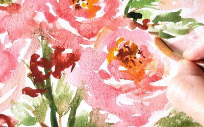 Wet-on-Wet vs. Wet-on-Dry and When to Use it in Floral Paintings