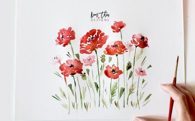How to Paint Loose Poppies – Learn Watercolor Epi 02