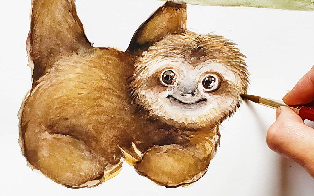 Sloth Painting Tutorial