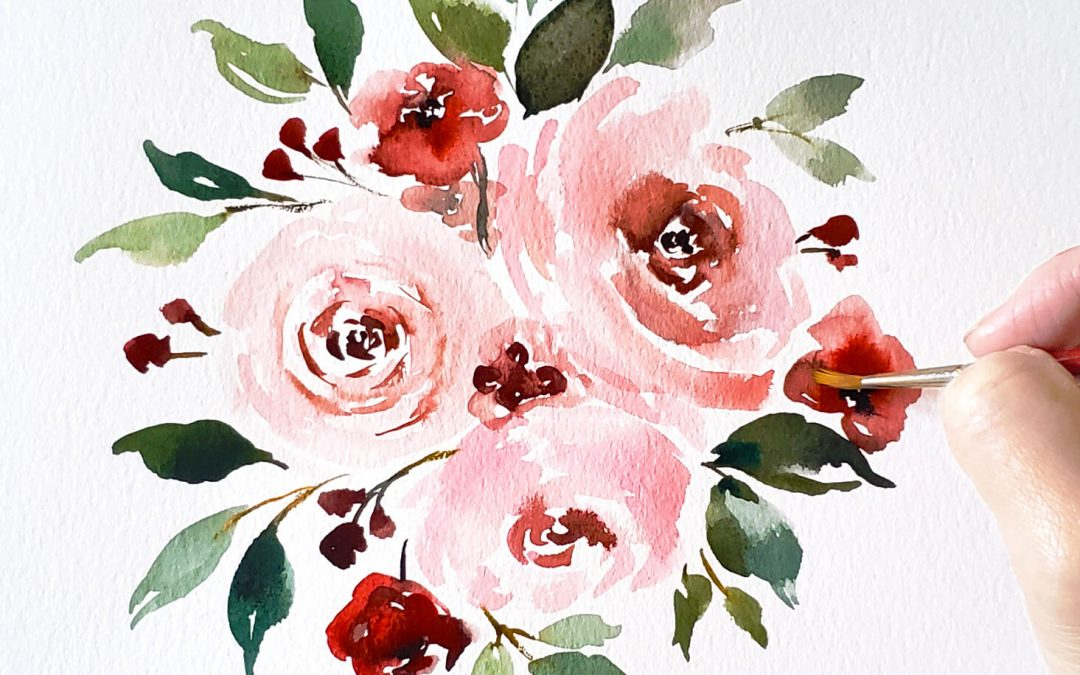 3 Ways to Paint a Rose